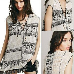 Free People Sleeveless Blanket Tunic Sweater S